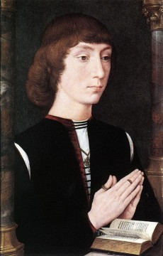 Hans Memling Painting - Young Man at Prayer 1475 Netherlandish Hans Memling
