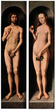 adam Painting - Adam and Eve 1485 Netherlandish Hans Memling