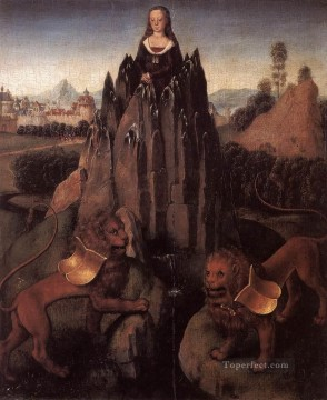 Hans Memling Painting - Allegory with a Virgin 1479 Netherlandish Hans Memling