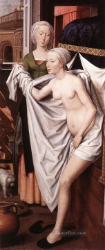 bath girl oil painting Painting - Bathsheba 1485 Netherlandish Hans Memling