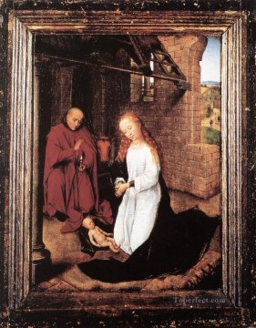 Nativity 1470 Netherlandish Hans Memling Oil Paintings