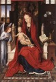 Virgin Enthroned with Child and Angel 1480 Netherlandish Hans Memling