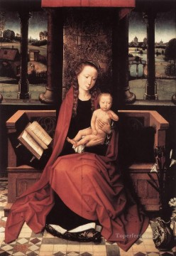 Hans Memling Painting - Virgin and Child Enthroned 1480 Netherlandish Hans Memling