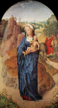 Hans Memling Painting - Virgin and Child in a Landscape Rothschild Netherlandish Hans Memling