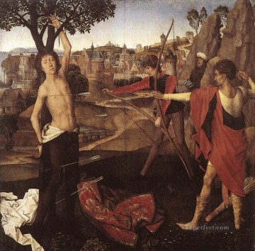 The Martyrdom of St Sebastian 1475 Netherlandish Hans Memling Oil Paintings