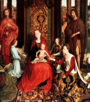 Hans Memling Painting - Marriage of St Catherine Netherlandish Hans Memling