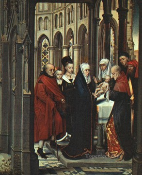 Hans Memling Painting - The Presentation in the Temple Netherlandish Hans Memling