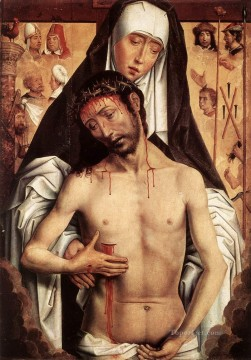 Hans Memling Painting - The Virgin Showing the Man of Sorrows 1480 Netherlandish Hans Memling