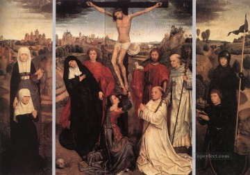 Triptych of Jan Crabbe Netherlandish Hans Memling Oil Paintings
