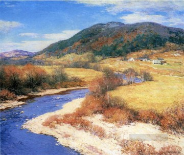 Summer Art - Indian Summer Vermont scenery Willard Leroy Metcalf
