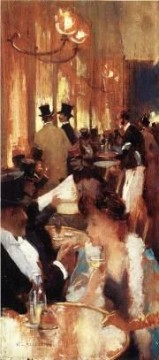 Au Cafe Willard Leroy Metcalf Decor Art