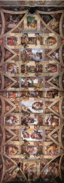 Ceiling of the Sistine Chapel High Renaissance Michelangelo Oil Paintings
