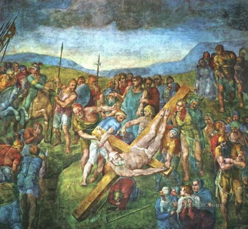 Matyrdom of St Peter High Renaissance Michelangelo Oil Paintings