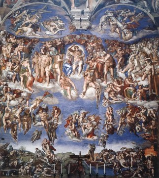 Sistine Chapel Last Judgement High Renaissance Michelangelo Oil Paintings