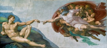 adam Painting - Creation of Adam Michelangelo