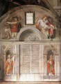 Sistine Chapel Lunette and Popes High Renaissance Michelangelo