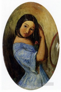 Girl Works - A Young Girl Combing Her Hair Pre Raphaelite John Everett Millais