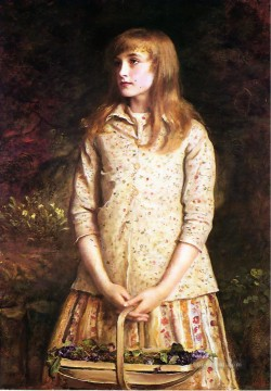 john painting - Sweetest eyes were ever seen Pre Raphaelite John Everett Millais