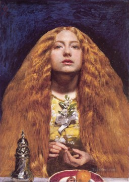 john painting - The Bridesmaid Pre Raphaelite John Everett Millais