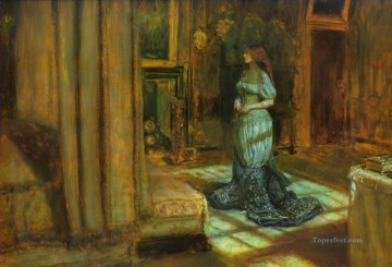 eve of st agnus Pre Raphaelite John Everett Millais Oil Paintings