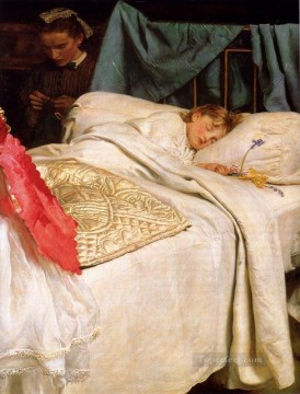 sleep Painting - Sleeping Pre Raphaelite John Everett Millais