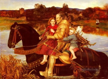 Dream Painting - A Dream Of The Past Sir Isumbras At The Ford Pre Raphaelite John Everett Millais