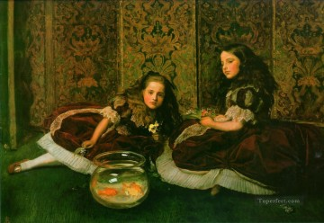 Hour Painting - leisure hours Pre Raphaelite John Everett Millais