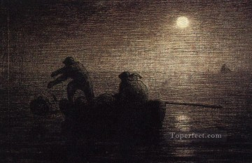 farm Works - Fishermen Barbizon naturalism realism farmers Jean Francois Millet
