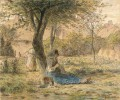 In the Garden Barbizon naturalism realism farmers Jean Francois Millet