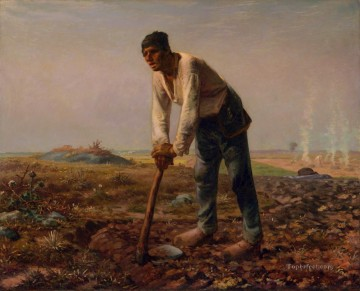 Man with a Hoe Barbizon naturalism realism farmers Jean Francois Millet Oil Paintings