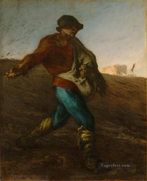 The Sower Barbizon naturalism realism farmers Jean Francois Millet Oil Paintings