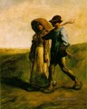 The Walk to Work Le Depart pour le Travail farmers Jean Francois Millet