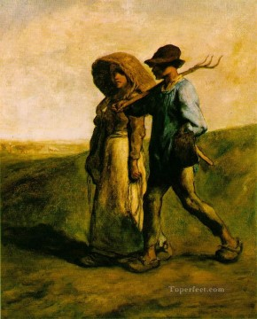 farm Works - The Walk to Work Le Depart pour le Travail farmers Jean Francois Millet
