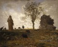 Autumn Landscape with a Flock of Turkeys farmers Jean Francois Millet
