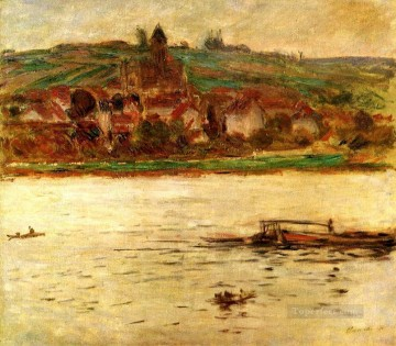 mornings on the seine monet Painting - Barge on the Seine at Vertheuil Claude Monet