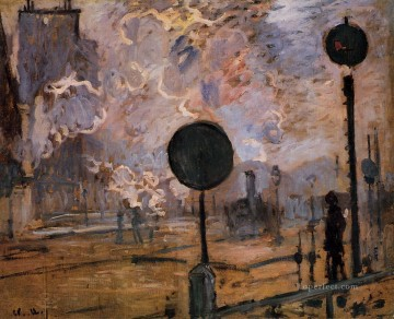 aka Works - Exterior of Saint Lazare Station aka The Signal Claude Monet