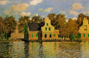 Houses on the Zaan River at Zaandam Claude Monet Oil Paintings