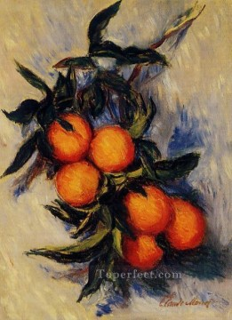 Fruit Painting - Orange Branch Bearing Fruit Claude Monet
