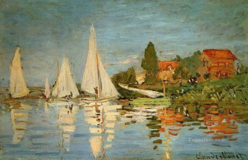Argenteuil Canvas - Regatta at Argenteuil Claude Monet