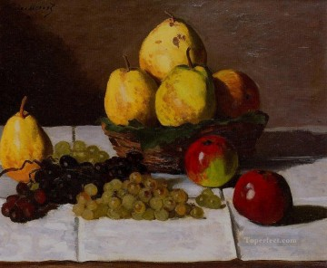 pears Oil Painting - Still Life with Pears and Grapes Claude Monet