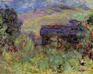 Rose Art - The House Seen through the Roses Claude Monet