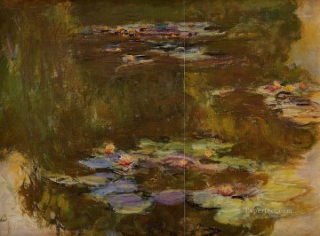 monet water lily lilies waterlily waterlilies Painting - The Water Lily Pond right side Claude Monet