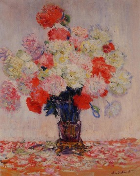 Vase of Peonies Claude Monet Oil Paintings