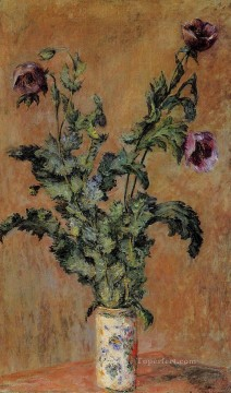 Vase of Poppies Claude Monet Oil Paintings