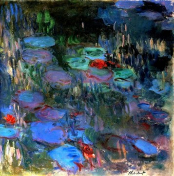 Water Works - Water Lilies Reflections of Weeping Willows right half Claude Monet