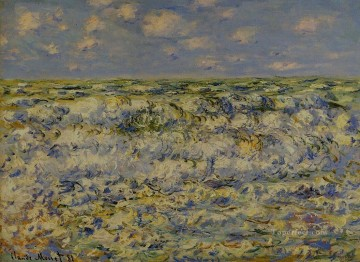Monet Deco Art - Waves Breaking Claude Monet
