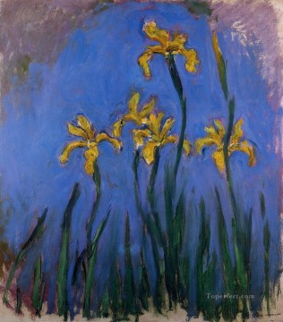 Yellow Irises III Claude Monet Oil Paintings
