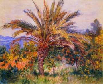 Tree Painting - A Palm Tree at Bordighera Claude Monet