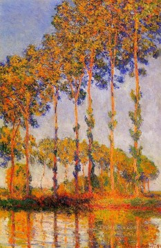 Row Painting - A Row of Poplars Claude Monet