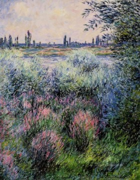 mornings on the seine monet Painting - A Spot on the Banks of the Seine Claude Monet